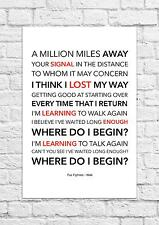 Foo Fighters - Walk - Song Lyric Art Poster - A4 Size