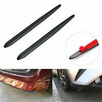 2x Car Front/Rear Carbon Fiber Anti-rub Strip Bumper Body Corner Protector Guard