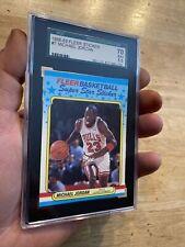 Michael Jordan SGC 70 Fleer Sticker Card Collector #7 INVEST Last Dance 1988
