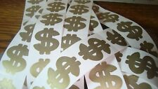 #50 $$ Gold Dollar Sign Stickers Scrapbooking, Crafts, Tanning Body Tattoo  New