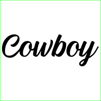 Cowboy Decal Sticker