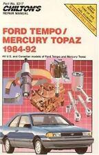 Ford Tempo-Mercury Topaz, 1984-92 by Chilton Automotive Editorial Staff (R1217)