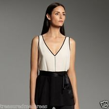 Narciso Rodriguez Sleeveless Georgette Blouse ~ Medium (8-10) ~ NWT MSRP $48.00