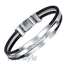 MENS FASHION T&T 316L Stainless Steel Bangle NEW BS01
