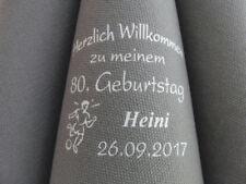 ♥ 100 edel mit Namen bedruckte DUNILIN-Premium-Dinnerservietten: GEBURTSTAG/DUNI