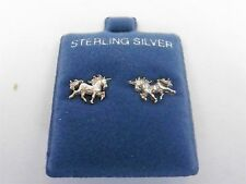 Danecraft Sterling Silver 925 Unicorn Horse Earrings Pierced Sterling not plated
