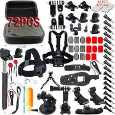 For GoPro Go pro Hero 5 Accessories Set Kit Black/Silver Hero 4/3+/3/2 1