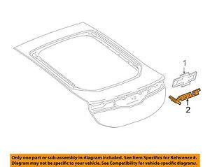 Chevrolet GM OEM 11-18 Volt Lift Gate-Emblem Badge Nameplate 84162072