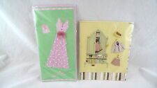 2 BLANK Greeting Cards IN PLASTIC WRAP Colorful WOMEN CLOTHING
