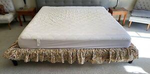 RALPH LAUREN King Bedskirt Provence Floral Scroll Dust Ruffle