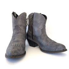 ARIAT Women's Dakota Western Boot Naturally Distressed Black Sz 7