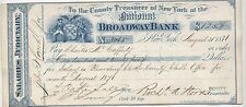 1871 USA Executive Salary Cheque | Signed By New York Mayor | Pennies2Pounds