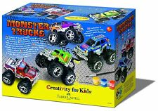 KIT PER CREARE MONSTER TRUCKS CREATIVITY FOR KIDS FABER-CASTELL 190898 NUOVO