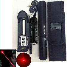 8000M Red 5mw 650nm Laser Pointer Pen Light Lazer Visible Beam Zoom + Battery