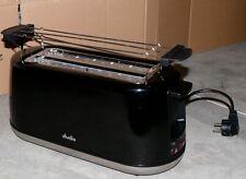 Studio XXL Langschlitz Familien 4 Scheiben Toaster 6 Temperatur 1500W Schw-Chrom