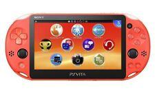USED PS Playstation vita Wi-Fi model NEON ORANGE PCH-2000 ZA24 only console