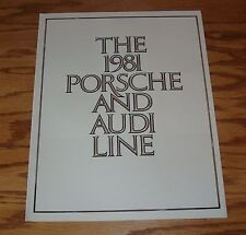 Original 1981 Porsche & Audi Full Line Foldout Sales Brochure 81 911SC 924