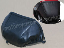 Leather Gas Tank Fuel Tank Bra Shield Protector For Harley Dyna 2004-2017 Black