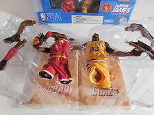 NBA Basketball LeBron James Tracy McGrady Hardwood Classic Action Figures NIB !!