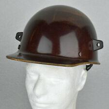 New listing Vtg 1970s Brown Fiberglass Msa Skullgard Safety Hat Cap w/ Welding Lugs & Liner