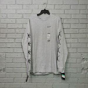 Nike SB Luck Floral Long Sleeve Men's Size XL T-Shirt Grey Heather CJ0438-063