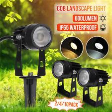 10PCS 12V LED Outdoor Garden Spotlights Landscape Lights Yard Flood Lamp Waterpr