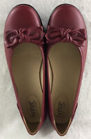 Hotter Comfort Concept Jewel Women's Red Slip On Loafers Bow Flat Shoes Sz US 11