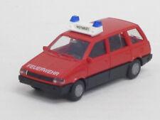 """Mitsubishi Space Wagon in rot, """"Feuerwehr"""", o. OVP, Rietze, 1:87,Blaulichtbalken"""