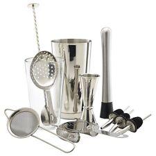 12pc Stainless Steel Cocktail Shaker Mixer Set, Bar, Gift Set,
