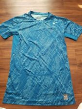 NIKE PRO COMBAT COMPRESSION SHIRT BOYS YOUTH XLARGE BLUE