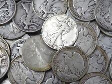 1.00 Face = 2 -Walking Liberty Half Dollars , 90% Silver Coin Lot , Circulated