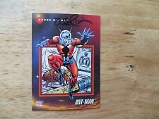 1992 IMPEL MARVEL UNIVERSE 3 ANT-MAN CARD SIGNED TERRY AUSTIN ARTWORK