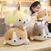 "35cm/14"" Corgi Dog Plush Toy Stuffed Soft Animal Pillow Cartoon Gift for Kids HQ"