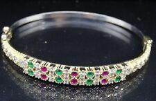 Turkish Jewelry 925 Sterling Silver Emerald Ruby Ladies Women Bracelet 782