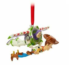 New! Disney Store Buzz and Woody Sketchbook Ornament Flying Toy Story Christmas