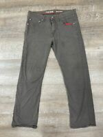 Wrangler Red Men's 32x30 Distressed Gray Regular Fit Khaki Pants Grunge