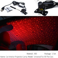 Home Car USB LED Interior Ceiling Rock Light Red Starry Sky Decorative Lamp