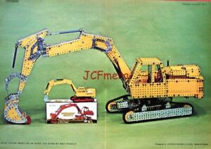 1977 MECCANO PRINT 'Constructed 'Atlas Digger'' : Ideal to Frame