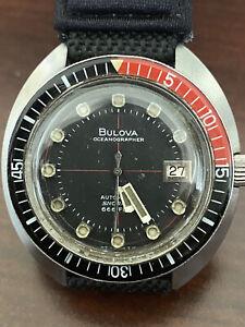 Vintage bulova oceanographer devil diver