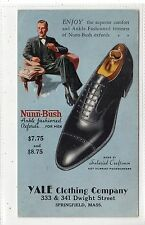 NUNN-BUSH SHOES: Yale Clothing Co, Mass USA advertising postcard (C16954)