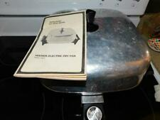 """#0463 Vintage Hoover Stainless steel 12"""" Electric Fry Pan & manual B3037 Tested"""