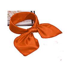 Women Lady's Soft Scarf Satin Square Scarves Satin Neckerchief Neck Headband
