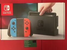 Nintendo Switch - 32GB Gray Console (with Neon Red/Neon Blue Joy-Con) new