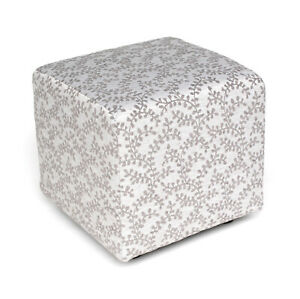 Biagi Upholstery & Design Small Silver Grey Square Footstool - CLEARANCE SALE
