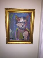 JOSE TRUJILLO Oil Painting Abstract Figures Figurative Expressionism Artwork