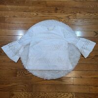 The Korner Women's White Stars Blouse Size Medium M