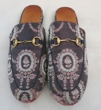 652e574f3 GUCCI floral printed blue and pink slip on mule slipper size 39.5 us 9.5