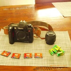 fujifilm finepix s2 pro  with nikon f 1.8  50mm  &memory card bettery