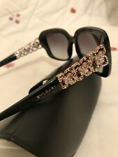 Gorgeous This Years Ladies BVLGARI Crystal Black Sunglasses.New.