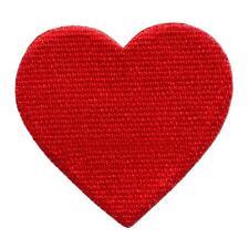 "RED HEART IRON ON PATCH 2"" Love Rocker Biker Rockabilly Embroidered Applique NEW"
